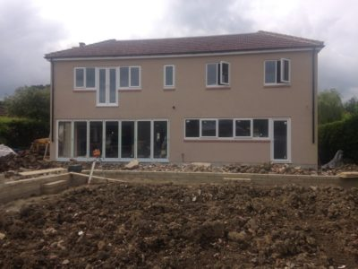 colour waterproof silicone rendering job ilkley