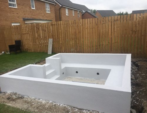 KRend Silicone Rendering Seating Area Leeds